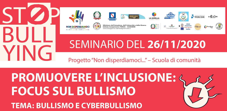 "Seminario ""Promuovere l'inclusione: Focus sul bullismo"""