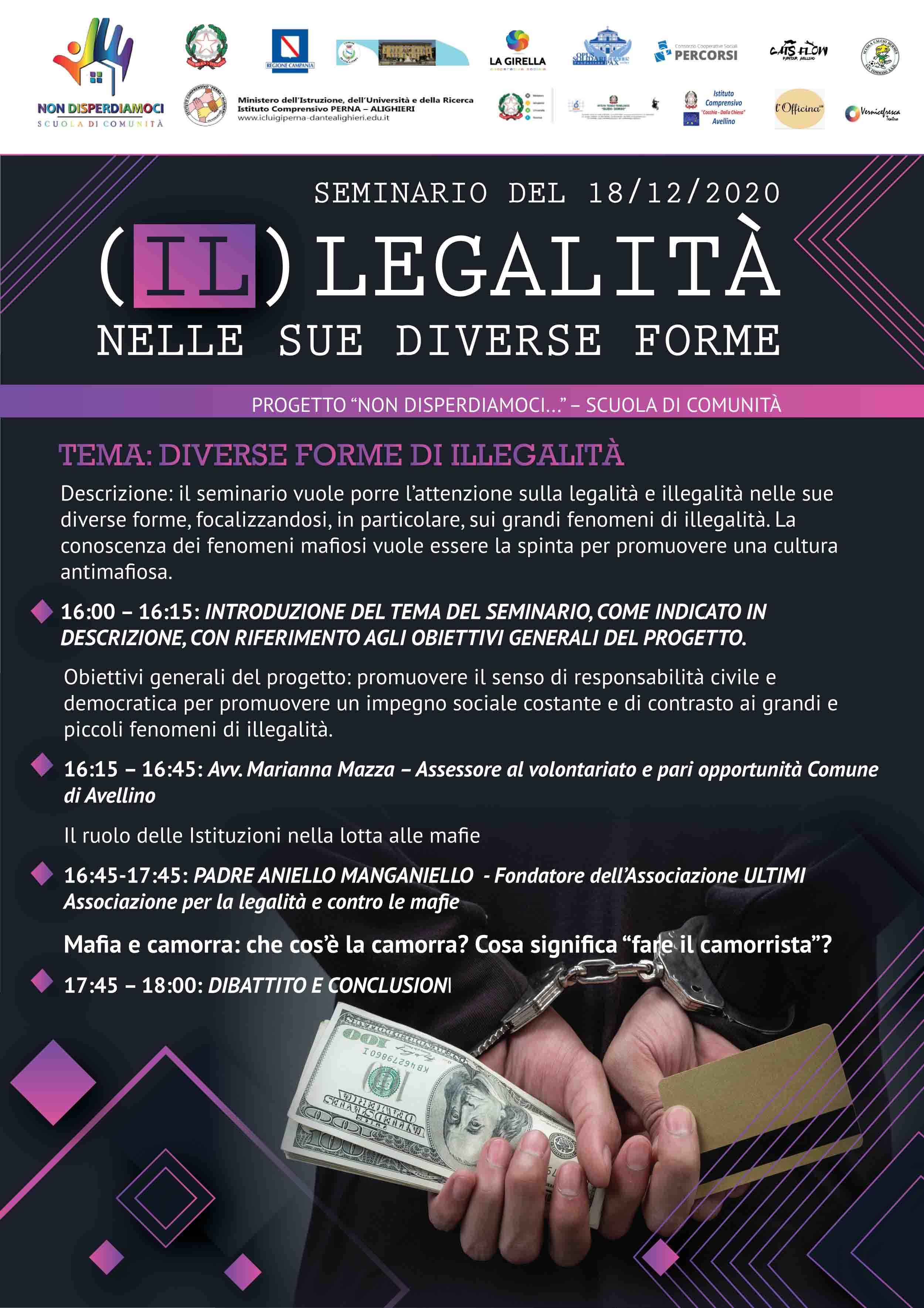 """Seminario: """"(IL)LEGALITA' NELLE SUE DIVERSE FORME"""