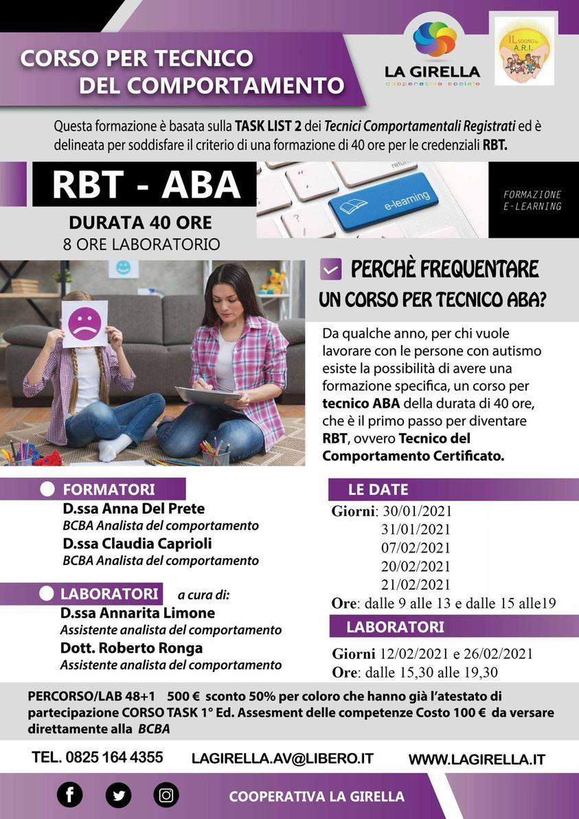 Corso RBT - Tecnico del comportamento (TERZA EDIZIONE)