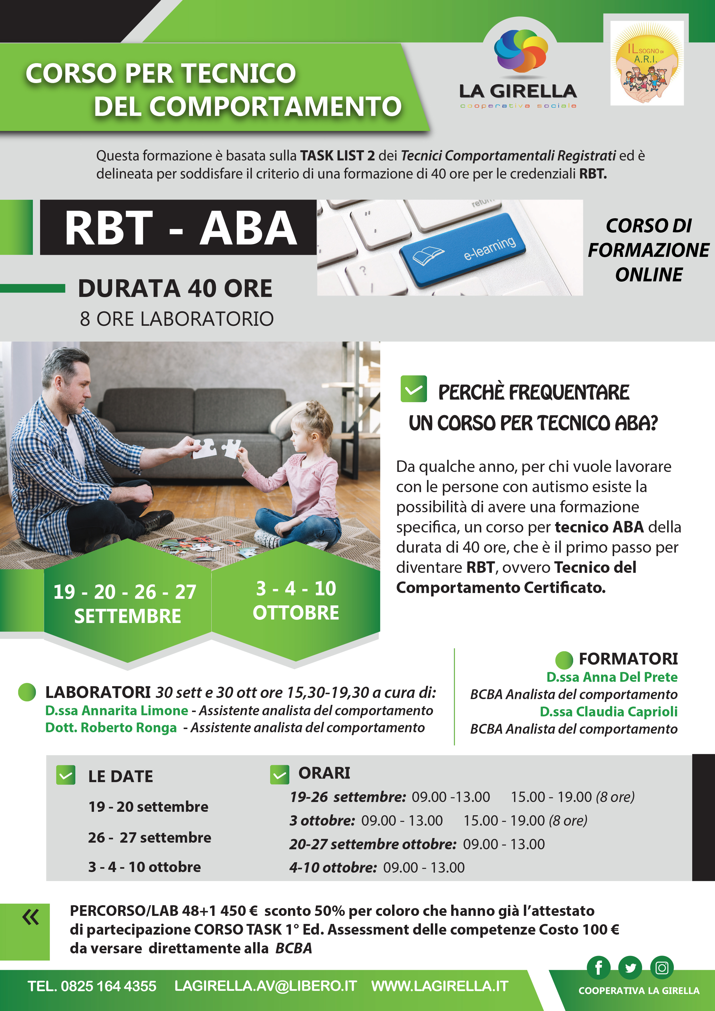 Corso RBT - Tecnico del comportamento  (SECONDA EDIZIONE)